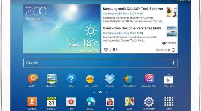 Precio en mínimo histórico! Tablet Samsung Galaxy Tab 3 10.1 por 158 €