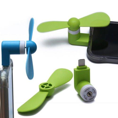 Mini ventilador micro usb por 1 € puesto en casa