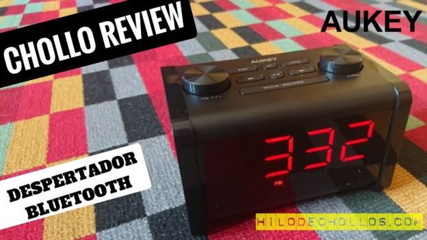 Interesante reloj despertador altavoz bluetooth de Aukey