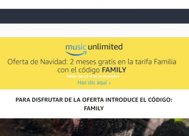 Oferta de navidad! 2 meses gratis de amazon music!