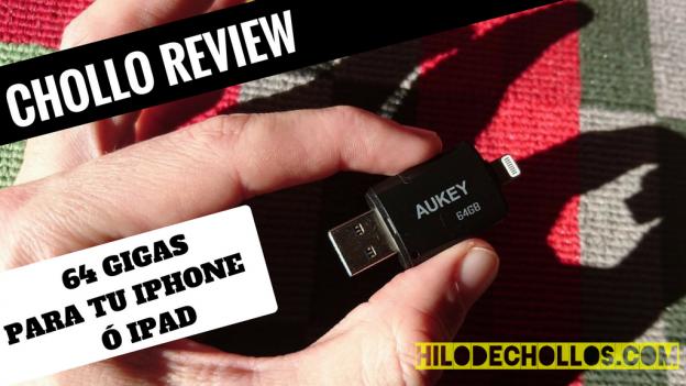 Pincho USB de 64 Gigas para meter pelis o música a tu iphone o ipad