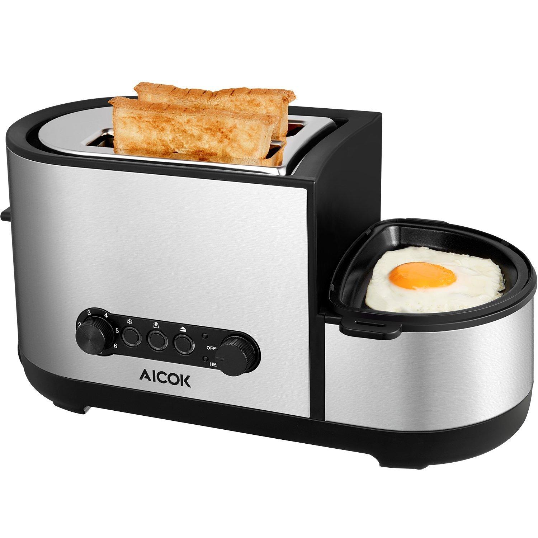 tostadora + huevo frito