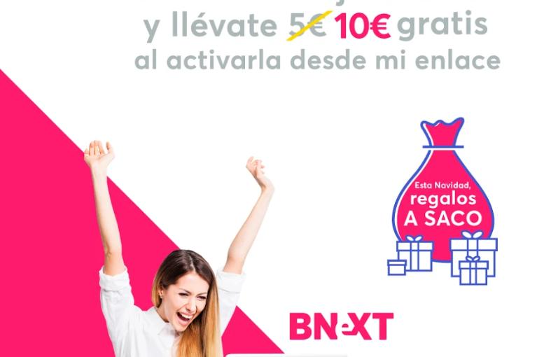 ¿Quieres ganar 10 € en un momento? yo te digo cómo! tarjeta Bnext!