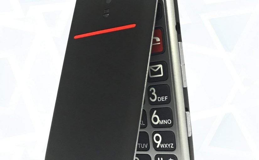 Teléfono móvil para personas mayores con botón de emergencia