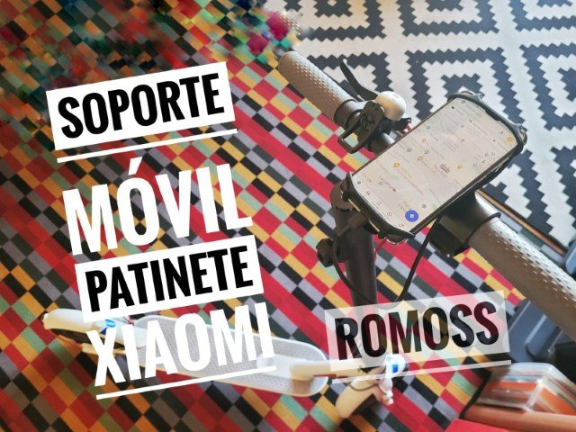 El mejor soporte para teléfono con batería incluida para patinete eléctrico / bicicleta de ROMOSS